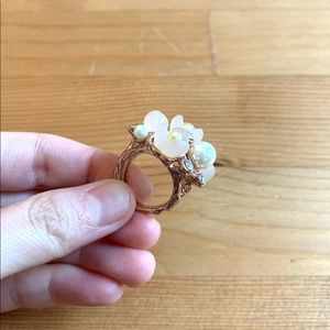 Blush Rosegold Cherry Blossom Ring
